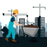 city under construction cityscape background icon vector illustration design